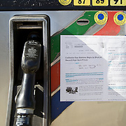 Gas prices reach nearly $6.00 per gallon at Low P gas station in Calabasas, CA, a populated suburb in Los Angeles. A shortage of fuel and extremely high wholesale prices has caused stations to dramatically increase gas to avoid running out.