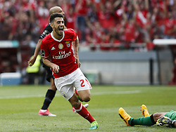 May 13, 2017 - Lisbon, Portugal - Benfica's forward Pizzi celebrates his goal  during Premier League 2016/17 match between SL Benfica vs Vitoria SC, in Lisbon, on May 13, 2017. (Credit Image: © Carlos Palma/NurPhoto via ZUMA Press)