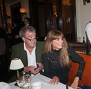 JEREMY CLARKSON; JEMIMA KHAN, Vanity Fair Lunch hosted by Graydon Carter. 34 Grosvenor Sq. London. 14 May 2013
