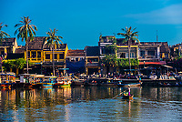 Old Town Hội An, the city's historic district, is recognized as an exceptionally well-preserved example of a South-East Asian trading port dating from the 15th to the 19th century, its buildings and street plan reflecting a unique blend of influences, indigenous and foreign. Hoi An, Vietnam.
