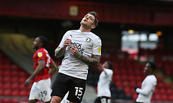 Sammie Szmodics of Peterborough United rues a missed chance to score - Mandatory by-line: Joe Dent/JMP - 14/11/2020 - FOOTBALL - Alexandra Stadium - Crewe, England - Crewe Alexandra v Peterborough United - Sky Bet League One