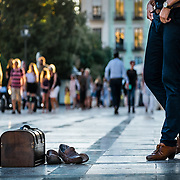 Wooden box and shoes