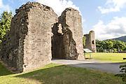 Abergavenny castle gatehouse, Monmouthshire, South Wales, UK