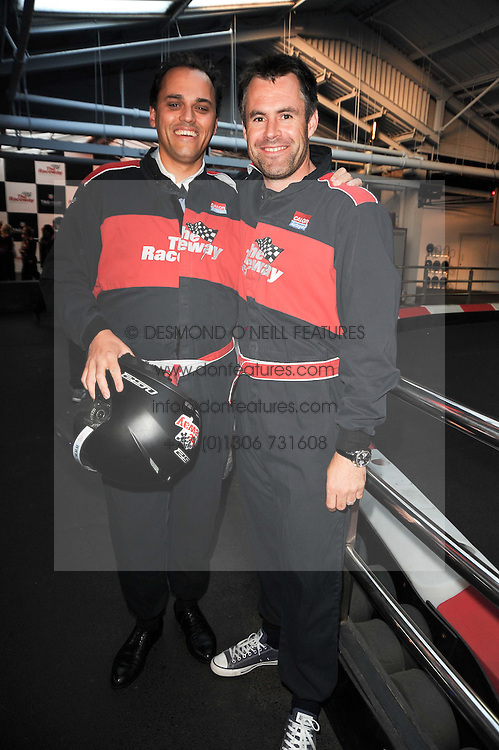 Left to right, ANTOINE PIN and KENNY LOGAN at an evening of go-karting hosted by Tag Heuer at Docklands Raceway, 3 Herringham Road, London SE7 on 16th June 2010.