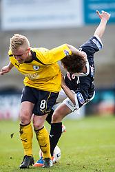 Falkirk's Craig Sibbald and Raith Rovers Lewis Vaughan..Raith Rovers 0 v 0 Falkirk, 27/4/2013..© Michael Schofield.