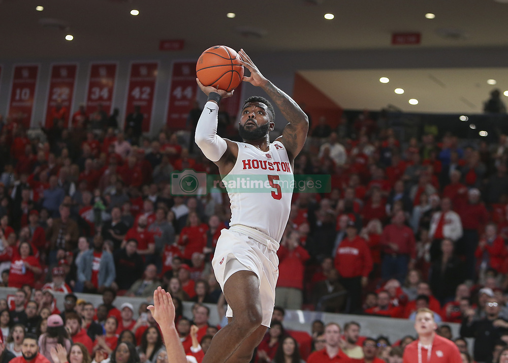 December 20, 2018 - Houston, TX, USA - Houston Cougars guard Corey Davis Jr. (5) goes up for a shot during an NCAA men's basketball game between the University of Houston and Utah State University on Thursday, Dec. 20, 2018 in Houston, TX. (Credit Image: © Scott Coleman/ZUMA Wire)