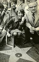 May 21, 1975 Carol Burnett at her Hollywood Walk of Fame ceremony