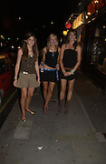 Elizabeth Ashby, Kathryn Jessup and Dani Harrison. Manhattan A* List party in aid of the British Dyslexia association. Raffles nightclub. King's Rd. London. 29 August 2005. ONE TIME USE ONLY - DO NOT ARCHIVE  © Copyright Photograph by Dafydd Jones 66 Stockwell Park Rd. London SW9 0DA Tel 020 7733 0108 www.dafjones.com
