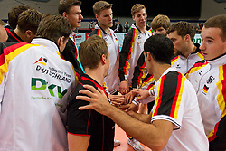 18.06.2011, Bremen Arena, Bremen, GER, FIVB World League, Vorrunde Pool B, Deutschland (GER) vs Bulgarien (BUL), im Bild Team Deutschland vor dem Spiel // during FIVB World League game, Germany vs Bulgaria, at Bremen Arena, Bremen, 2010-06-18, EXPA Pictures © 2011, PhotoCredit: EXPA/ nph/  Kurth       ****** out of GER / SWE / CRO  / BEL ******