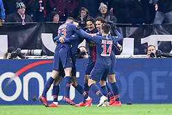 February 3, 2019 - Lyon, France - 09 EDINSON CAVANI (PSG) - 05 MARQUINHOS (PSG) - JOIE (Credit Image: © Panoramic via ZUMA Press)
