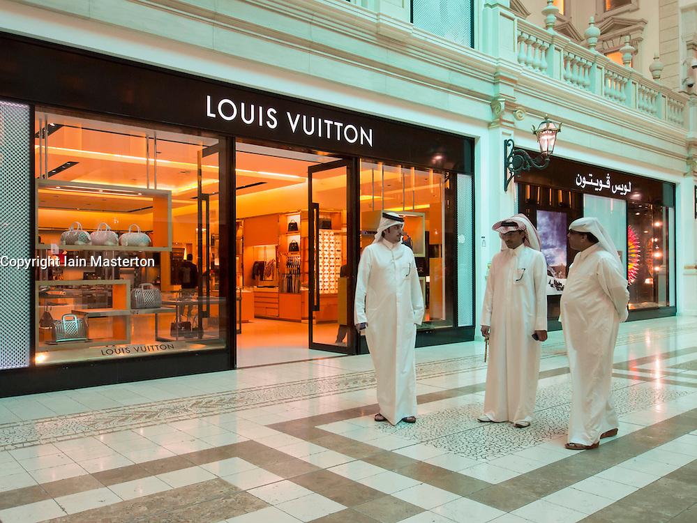 Louis Vuitton boutique in  upmarket Villaggio shopping mall in Doha Qatar