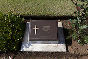 The grave of an unidentified soldier who died in Japan during the war at Hodagya  Commonwealth War Graves cemetery on Remembrance Sunday in Hodogaya, Yokohama, Kanagawa, Japan. Sunday November 12th 2017. The Hodagaya Cemetery holds the remains of more than 1500 servicemen and women, from the Commonwealth but also from Holland and the United States, who died as prisoners of war or during the Allied occupation of Japan. Each year officials from the British and Commonwealth embassies, the British Legion and the British Chamber of Commerce honour the dead at a ceremony in this beautiful cemetery.