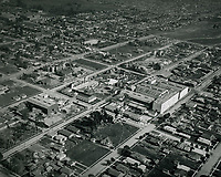 1923 Aerial of Metro Studios on Romaine St. in Hollywood