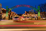 """10 DECEMBER 2020 - WEST DES MOINES, IOWA: Christmas decorations in the """"Historic Valley Junction"""" neighborhood of West Des Moines.    PHOTO BY JACK KURTZ"""