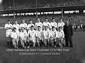 Ulster Railway Cup team 1962