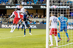 June 13, 2018 - San Jose, CA, U.S. - SAN JOSE, CA - JUNE 13: New England Revolution Defender Antonio Mlinar Delamea (19) defends well in the box during the MLS game between the New England Revolution and the San Jose Earthquakes on June 13, 2018, at Avaya Stadium in San Jose, CA. The game ended in a 2-2 tie. (Photo by Bob Kupbens/Icon Sportswire) (Credit Image: © Bob Kupbens/Icon SMI via ZUMA Press)