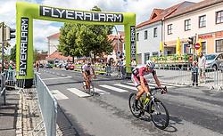 03.07.2017, Wien, AUT, Ö-Tour, Österreich Radrundfahrt 2017, 1. Etappe von Graz nach Wien (193,9 km), im Bild Flyeralarm Sprintwertung, Hans Joerg Leopold (AUT, WSA Greenlife) // during the 1st stage from Graz to Vienna (193,9 km) of 2017 Tour of Austria. Wien, Austria on 2017/07/03. EXPA Pictures © 2017, PhotoCredit: EXPA/ JFK
