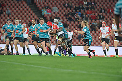 South Africa - Johannesburg, Emirates Airlines Park. 24/08/18  Currie Cup. Lions vs Griquas. Marvin Orie from the Lions is surrounded by Griquas players. <br /> 2nd half.  Picture: Karen Sandison/African News Agency(ANA)
