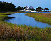 Tidewater in Doctors Creek leading to the Henry Pigott House, circa 190, Portsmouth Village, Core Banks, Cape Lookout National Seashore, North Carolina.
