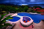 Couple, Hotel Linda Vista Mountain Lodge, Swimming Pool, Jacuzzi, Arenal Lake, Rainforest, El Castillo, Costa Rica