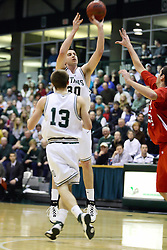 29 January 2011: Doug Sexauer during an NCAA basketball game between the Carthage Reds and the Illinois Wesleyan Titans at Shirk Center in Bloomington Illinois.
