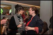 HELENA RIZZO; ANGELA HARTNETT, Veuve Clicquot World's Best Female chef champagne tea party. Halkin Hotel. Halkin St. London SW1. 28 April 2014.