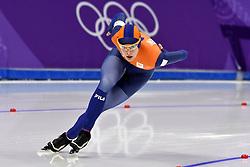 12-02-2018 ALGEMEEN: MEDAL PLAZA OLYMPISCHE SPELEN: OLYMPIC GAMES: PEYONGCHANG 2018<br /> Marrit Leenstra (NED) wint Olympischs brons op de 1500 meter<br /> Foto: Sander Chamid