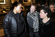 l to r: Janene Outlaw, Sara Rosen and Photographer Arlene Gottfried at The Timberland New Store Opening in Soho featuring a Powerhouse Books Exhibition, ' Nature of a City ' featuring NY based Photographers Janette Beckman, Vivian Cherry, Martha Cooper, Arlene Gottfried, Lisa Kahane, Maripol, Ricky Powell and Jamel Shabazz held at The Timberland Store in New York City on March 27, 2009..The exhibit, entitled Nature of a City, features images from the powerHouse archives that capture the energy and vitality of a city that - like Timberland - is constantly evolving, creating and defying trends. For the exhibit, powerHouse and Timberland selected photos from New York-based photographers Janette Beckman, Vivian Cherry, Martha Cooper, Arlene Gottfried, Lisa Kahane, Maripol, Ricky Powell and Jamel Shabazz.