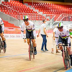 GRENCHEN  (SWI) EUROPEAN TRACK CHAMPIONSHIPS, October 5th<br /> Teamsprint men Nederlands Europees Kampioen<br /> Roy van den Berg<br /> Harry Lavreijssen<br /> Jeffrey Hoogland