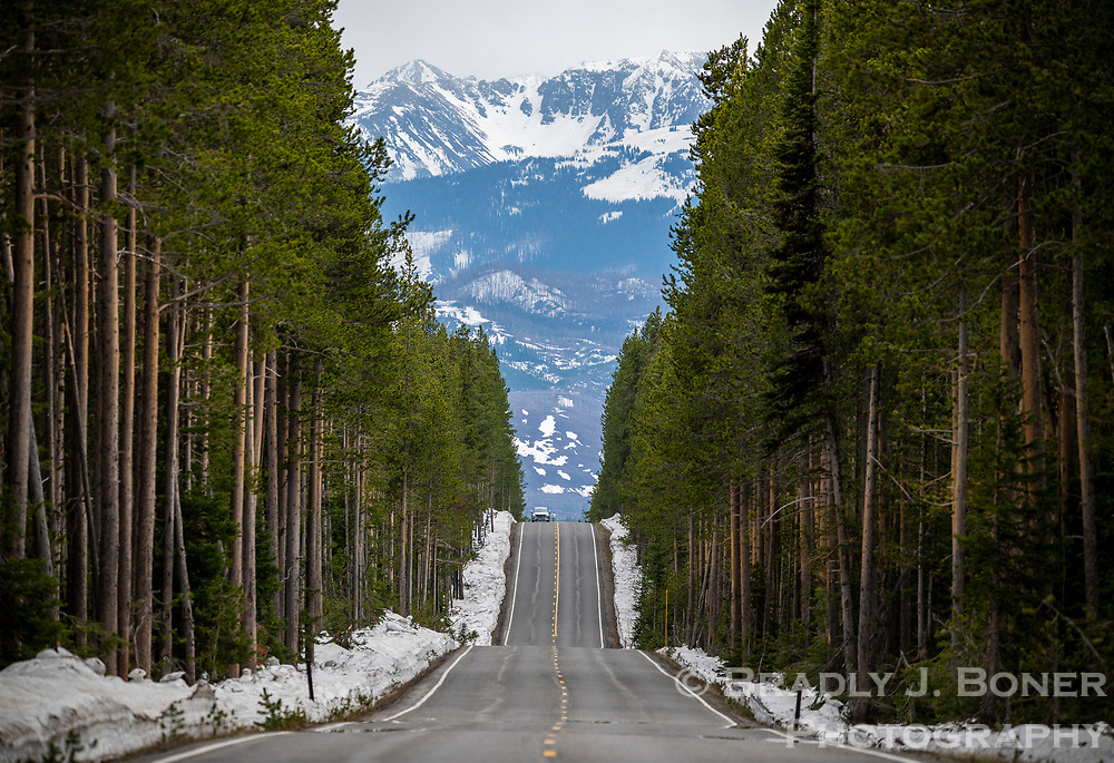 Highway 89 just north of the South Entrance of Yellowstone National Park.