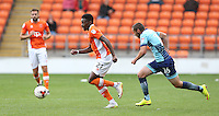 Blackpool's Bright Osayi-Samuel chased by Wycombe Wanderers' Michael Harriman<br /> <br /> Photographer Stephen White/CameraSport<br /> <br /> Football - The EFL Sky Bet League Two - Blackpool v Wycombe Wanderers - Saturday 20 August 2016 - Bloomfield Road - Blackpool<br /> <br /> World Copyright © 2016 CameraSport. All rights reserved. 43 Linden Ave. Countesthorpe. Leicester. England. LE8 5PG - Tel: +44 (0) 116 277 4147 - admin@camerasport.com - www.camerasport.com