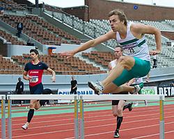 30-07-2011 ATLETIEK: NK OUTDOOR: AMSTERDAM<br /> Daniel Franken series 400 meter horden mannen<br /> ©2011-FotoHoogendoorn.nl / Peter Schalk