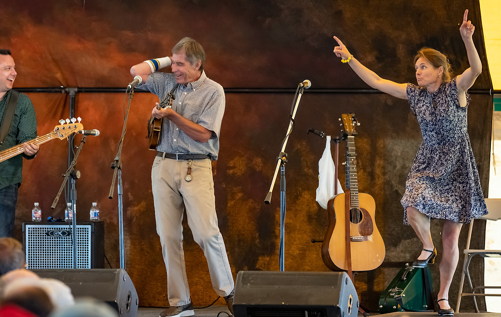 Ron Thomason and Heidi Clare join Sons and Brothers to open the 2019 High Mountain Hay Fever Bluegrass Festival on Thursday afternoon.