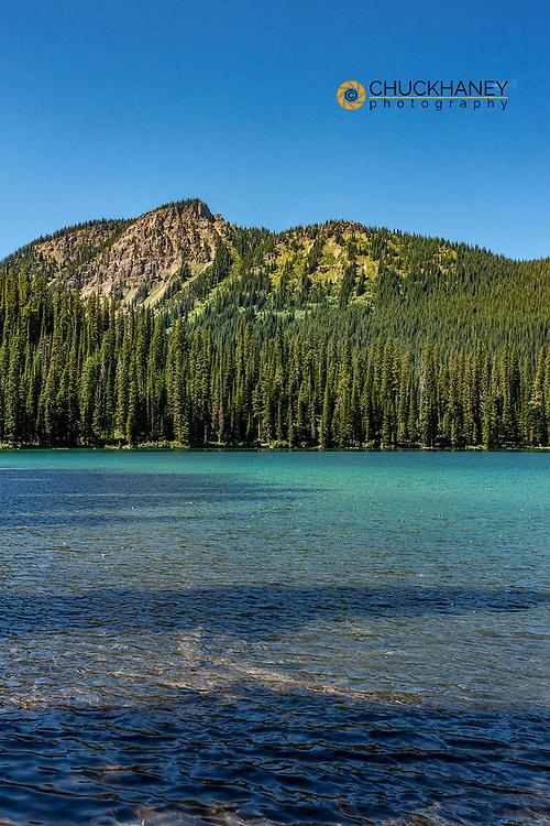 Little Therriault Lake in the Ten Lakes Scenic Area in the Kootenai National Forest near Eureka, Montana, USA