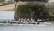 Mortlake/Chiswick, GREATER LONDON. United Kingdom Oxford University Women's Boat  Club, OUWBC vs Molesey BC,  Pre Boat Race Fixture, 2017 Boat Race, The Championship Course, Putney to Mortlake on the River Thames.<br /> Molesey BC. Coaching Launch. Chief Coach, Phil BOURGUIGNON. <br /> <br /> Sunday  19/03/2017<br /> <br /> [Mandatory Credit; Peter SPURRIER/Intersport Images]<br /> <br /> OUWBC Crew. S - Emily Cameron, 7 - Jenna Hebert, 6 - Harriet Austin, 5 - Chloe Laverack<br /> 4 - Rebecca Esselstein, 3 - Rebecca Te Water Naude, 2 – Beth Bridgman (sub for Flo Pickles who is ill). B – Alice Roberts  and Cox: Eleanor Shearer