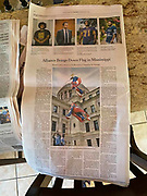 My photo for Reuters News Agency in the print edition of The New York Times Saturday July 11,2020<br /> <br /> https://www.nytimes.com/2020/07/10/us/mississippi-confederate-flag.html?searchResultPosition=1