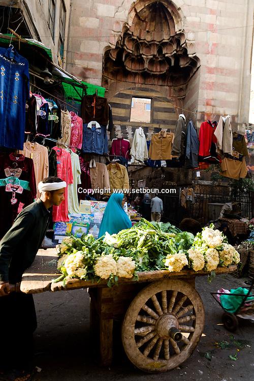 Egypt . Cairo : GATE to the mosque of QAWSUN. SURUGHIYA street.  Islamic Cairo   NM224 202