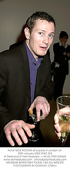 Actor NICK MORAN at a party in London on 29th January 2002.OWZ 334