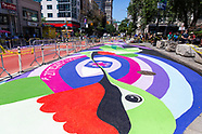 Union Square Bus Mural, Green Market, and Seating