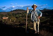 A farmer in his fields, Minas Gerais, Brazil