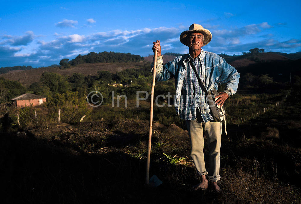 A farmer in his fields, Minas Gerais, Brazil