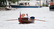 Henley on Thames. United Kingdom.  George LAWSON, in his Skiff, Moth,   Sunday,  03/07/2016,      2016 Henley Royal Regatta, Henley Reach.   [Mandatory Credit Peter Spurrier/Intersport Images] Messing about on the River.