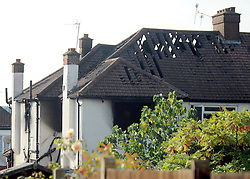 © Licensed to London News Pictures. 23/09/2011. LONDON, UK. Six people, including three children, two teenagers and an adult have died following a house fire in Neasden, North West London today (24 Sept 2011). Emergency services were called tot he blaze in the early hours of the morning. Photo credit:  Stephen Simpson/LNP