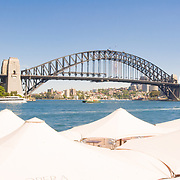 Sydney Harbour Bridge viewed from the Opera House.