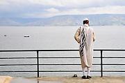 Israel, Tiberias the promenade and the Sea of Galilee