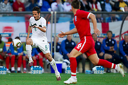Zlatan Ljubijankic of Slovenia during the 2010 FIFA World Cup South Africa Group C Third Round match between Slovenia and England on June 23, 2010 at Nelson Mandela Bay Stadium, Port Elizabeth, South Africa.  (Photo by Vid Ponikvar / Sportida)