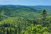 Chic-Chocs Mountains (Appalachian Mountains)  from the trail of 'Le mont Ernest-Laforce'<br />