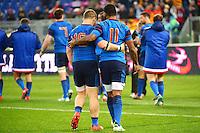 Benjamin KAYSER / Noa NAKAITACI - 15.03.2015 - Rugby - Italie / France - Tournoi des VI Nations -Rome<br /> Photo : David Winter / Icon Sport
