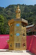 A golden Guanyin statue near Puli, Taiwan.