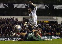 Photo: Olly Greenwood.<br />Tottenham Hotspur v Dinamo Bucuresti. UEFA Cup. 14/12/2006. Spurs Jermain Defoe scores
